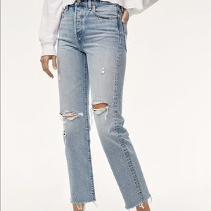 Levi's Jeans - Levi's Wedgie Straight Leg Distressed Crop Jean 26